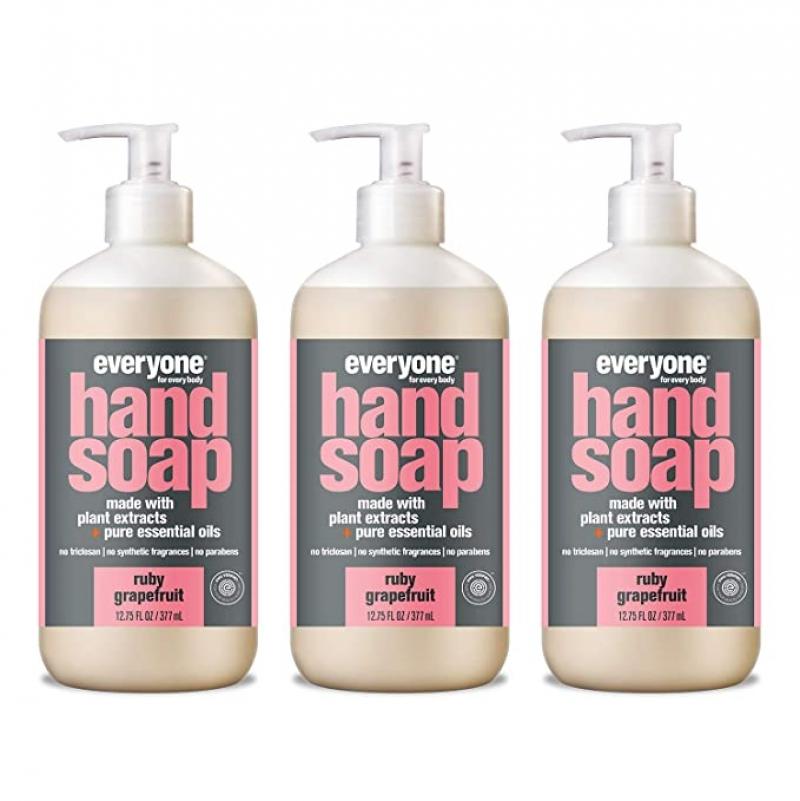 ihocon: Everyone Hand Soap: Ruby Grapefruit, 12.75 Ounce, 3 Count 洗手液皂