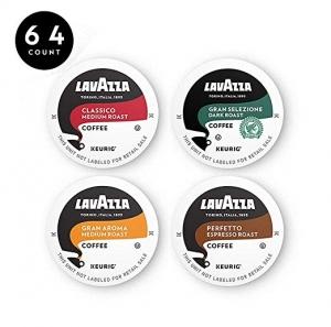 Lavazza Coffee K-Cup Pods咖啡膠囊 64個 $25.49免運(原價$36.42)
