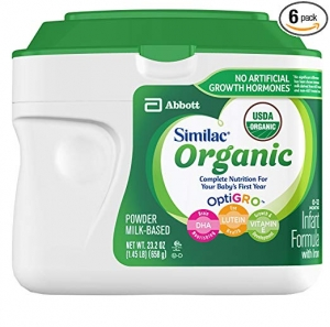 ihocon: Similac Organic Non-GMO Infant Formula, Powder, Baby Formula, 23.2 ounces, 6 Count, (1-Month Supply) 有機嬰兒奶粉