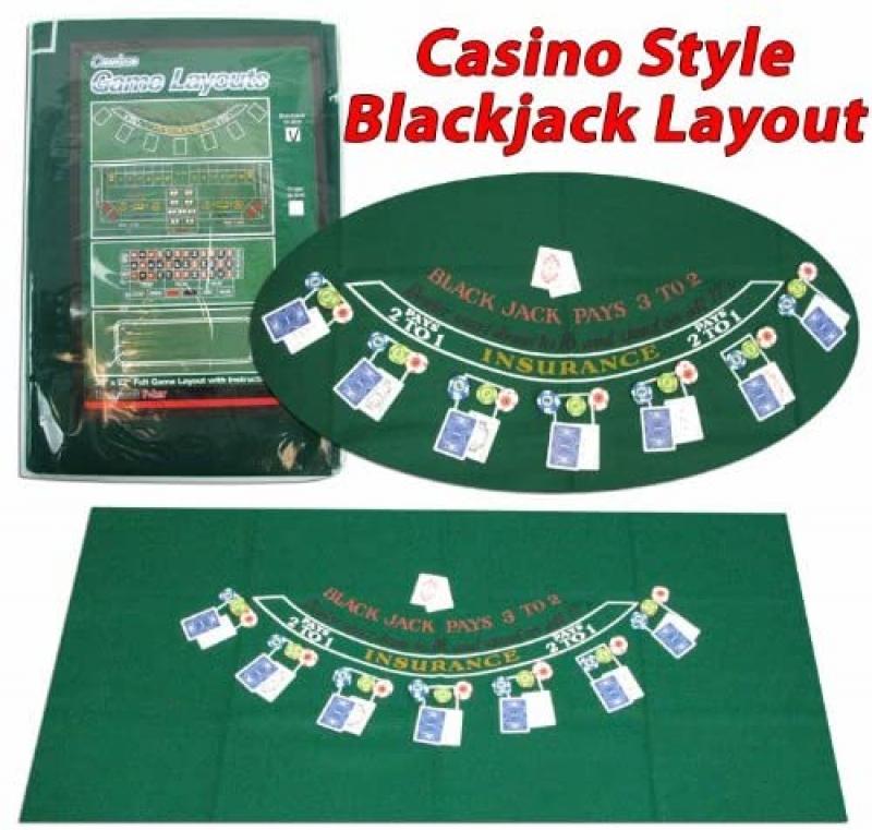 ihocon: Trademark Poker 405694 Blackjack Layout, 36 x 72 Inch 撲克牌布