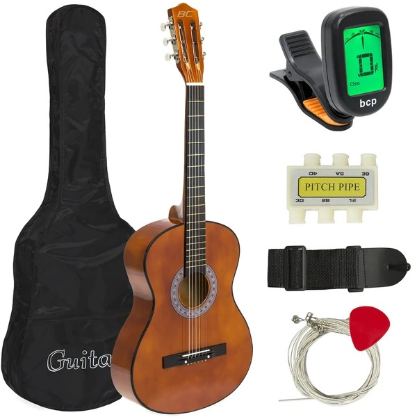 ihocon: Best Choice Products 38in Beginner Acoustic Guitar Musical Instrument Kit w/ Case, Strap, Tuner 初學者吉他(含琴盒, 背帶, 調音器)