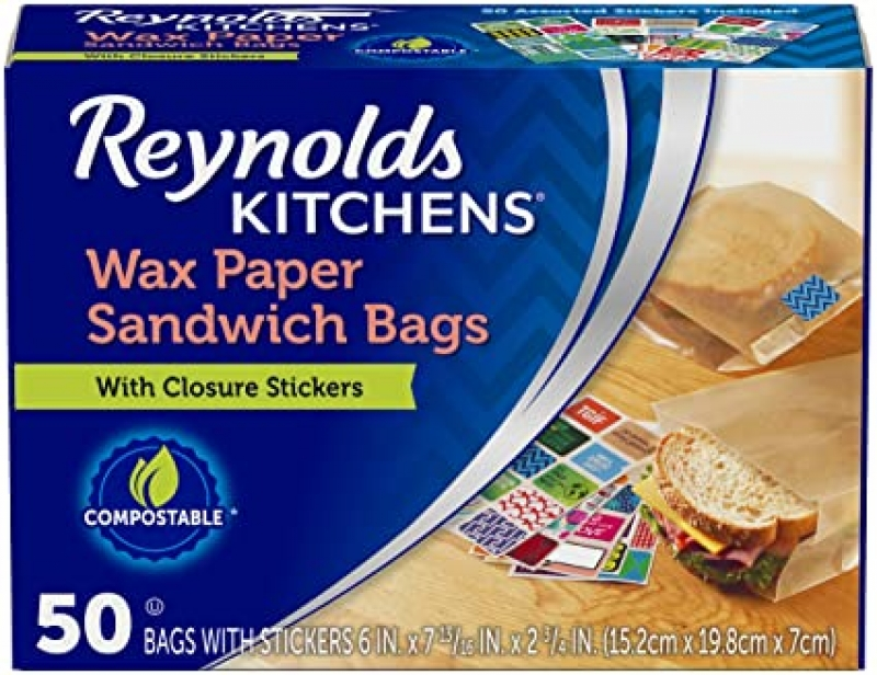 ihocon: Reynolds Kitchens Sandwich and Snack Wax Paper Bags 三明治蠟紙包裝袋 50個