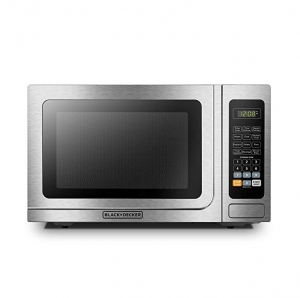 ihocon: BLACK+DECKER EM036AB14 Digital Microwave Oven,Child Safety Lock,1000W,1.4 cu.ft,Stainless Steel不銹鋼微波爐