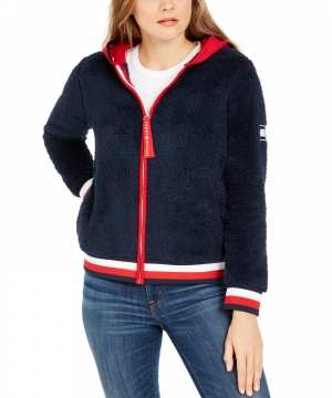 ihocon: Tommy Hilfiger Faux-Sherpa Hoodie 女士連帽衫夾克 - 2色可選