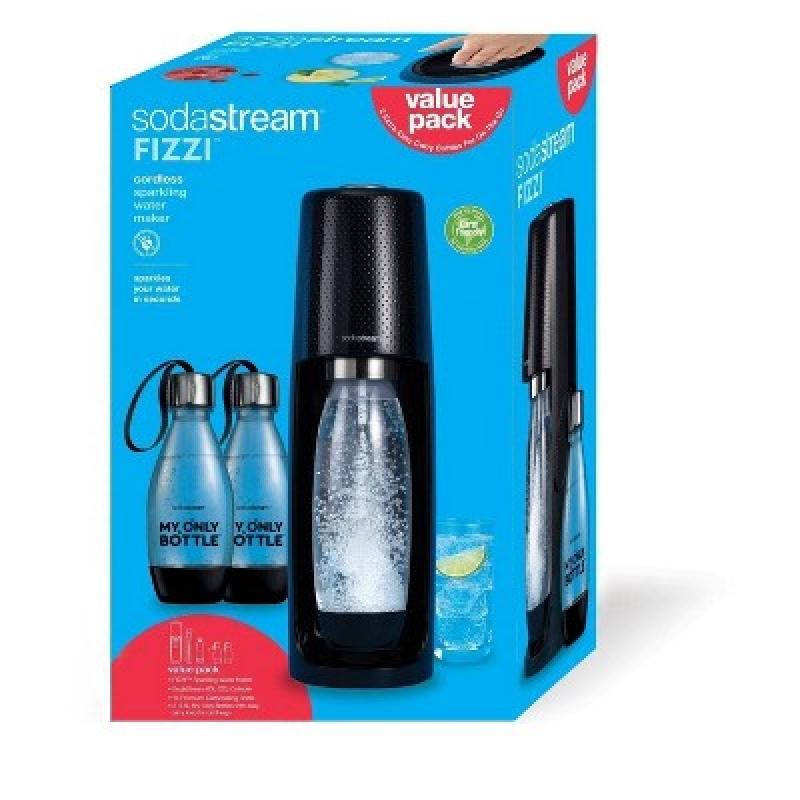 ihocon: SodaStream Fizzi Soda Maker with CO2 Carbonator and 2 Extra Bottles氣泡水機+二氧化碳鋼瓶+2個水瓶