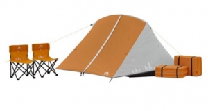 ihocon: Ozark Trail Kids Camping Kit with Tent, Chairs, and Sleeping Pads 兒童露營用品組, 包含帳篷, 椅子及睡墊
