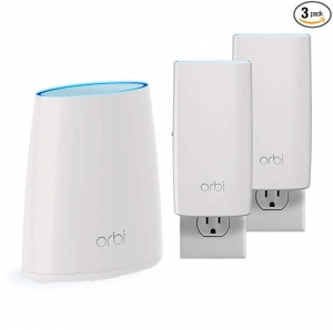 ihocon: NETGEAR Orbi Tri-Band Whole Home Mesh WiFi System, Covers up to 5,000 sq. ft. 家庭網路系統