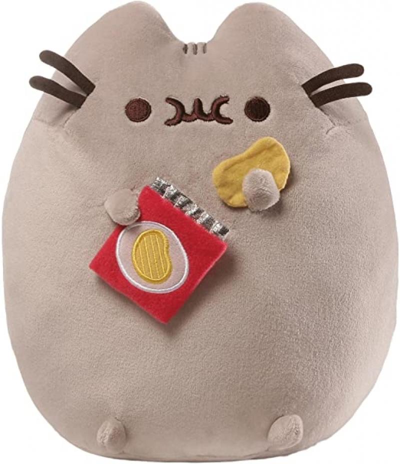 ihocon: GUND Pusheen Snackables Potato Chip Cat Plush Stuffed Animal, Gray, 9.5  胖吉貓毛绒玩具