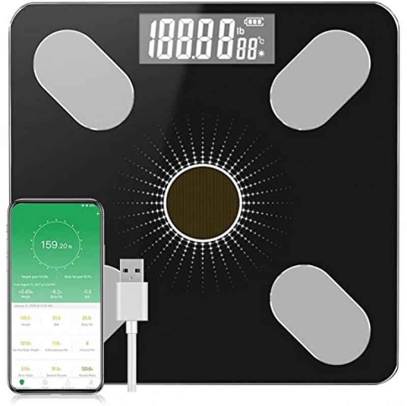 ihocon: BeautySoul Smart Weight Scale with Body Fat充電式體脂體重秤