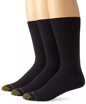 ihocon: Gold Toe Men's Classic Canterbury Crew Socks (Pack of 3) 男襪