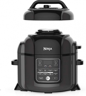 ihocon: Ninja OP401 Foodi 8-Quart Pressure, Steamer, Air Fryer All-in-One Multi-Cooker, Black/Gray 多合一 壓力鍋/氣炸鍋