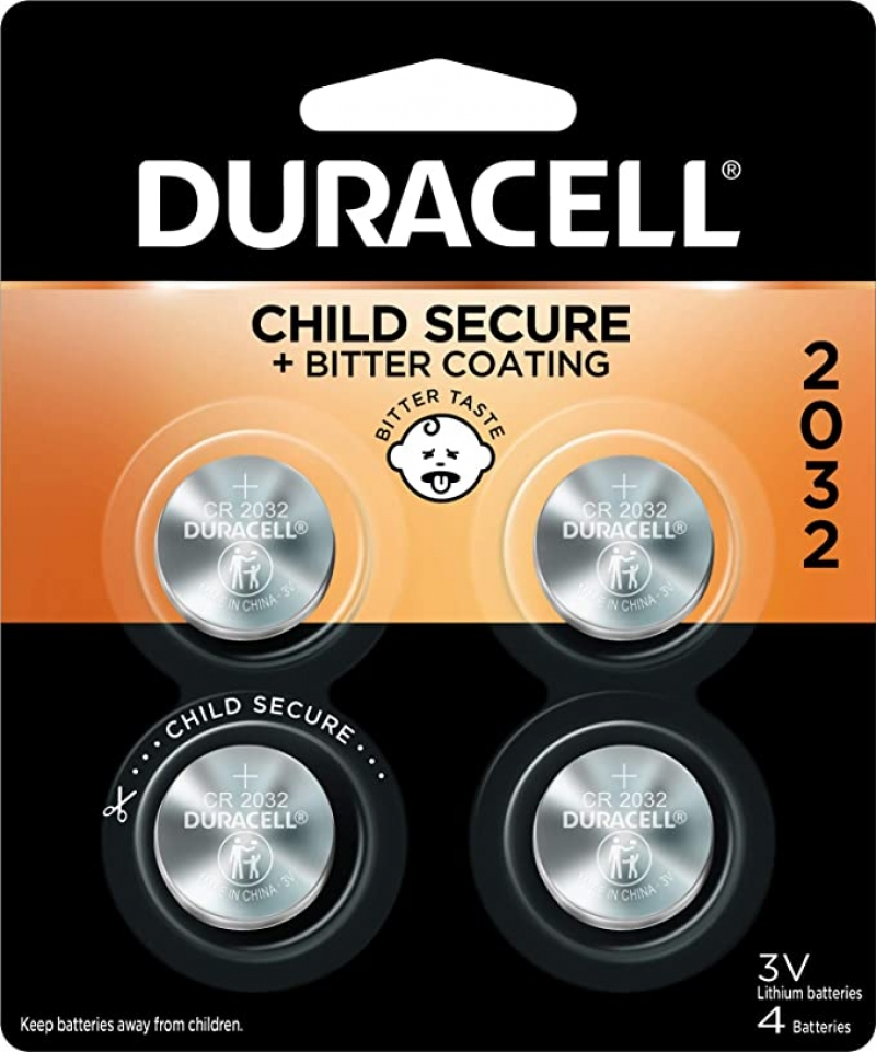 ihocon: Duracell 2032 3V Lithium Coin Battery - with Bitter Coating - 4 count鈕扣電池