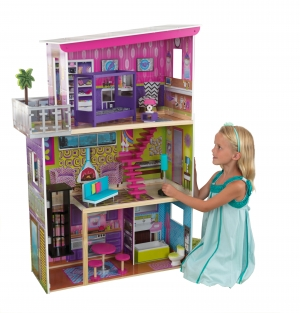 ihocon: KidKraft Super Model Dollhouse with 11 accessories included 娃娃屋, 含11個配件