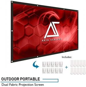 ihocon: Akia Screens 120 Indoor Outdoor Collapsible Portable Projector Screen 投影機螢幕