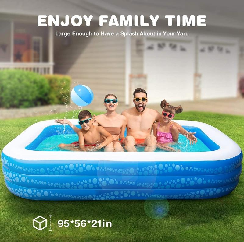 ihocon: Hesung Inflatable Swimming Pool, 95 X 56 X 21充氣泳池