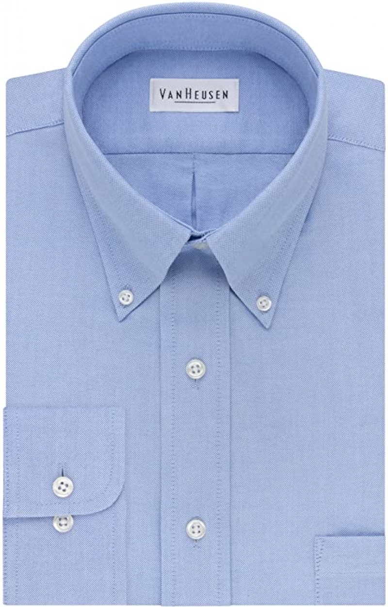 ihocon: Van Heusen Men's Dress Shirt Regular Fit Oxford Solid  男士襯衫