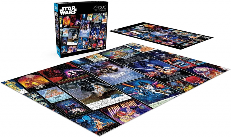 ihocon: Buffalo Games Star Wars Collage: Original Trilogy Posters - 1000 Piece Jigsaw Puzzle 1000片星球大戰拼圖