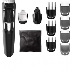 ihocon: Philips Norelco Multigroom All-In-One Series 3000, 13 attachment trimmer, MG3750 飛利浦多功能修容/理髮/除鼻毛器