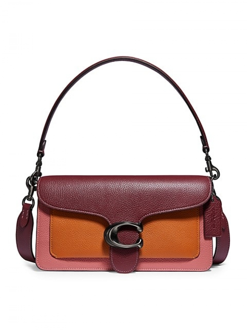 ihocon: Coach Tabby Colorblock Leather Shoulder Bag 拼色皮革包