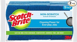 ihocon: Scotch-Brite Non-Scratch Scrub Sponge, Cleaning Power for Everyday Jobs, 9 Scrub Sponges 清潔海綿