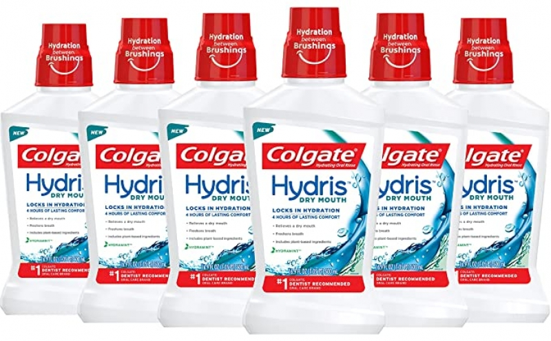 ihocon: Colgate Hydris Dry Mouth Mouthwash, 16.9 fl. oz. (Pack of 6) 高露潔漱口水