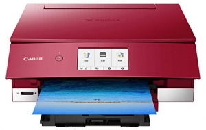 ihocon: Canon TS8220 Wireless All in One Photo Printer with Scannier and Copier, Mobile Printing, Red 無線多功能印表機(print/scan/copy)