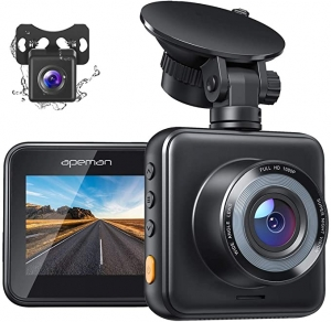 ihocon: Apeman 1080P FHD Dual Dash Cam for Cars 雙鏡頭行車記錄器