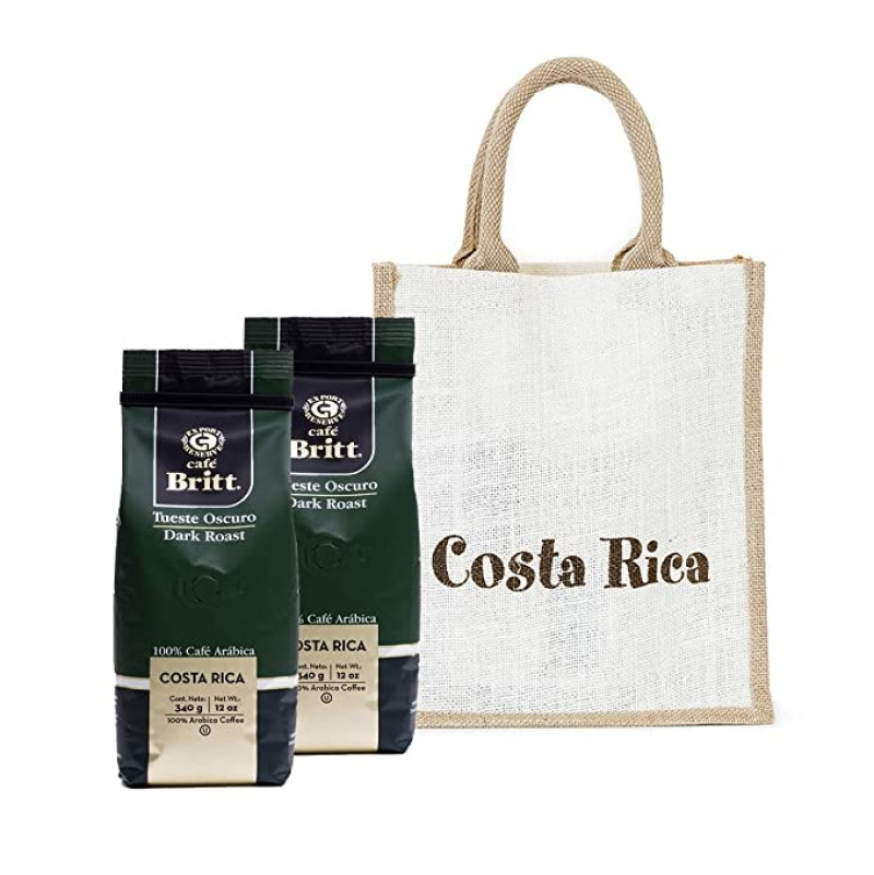 ihocon: Café Britt - Costa Rican Dark Roast Gift Set (12 oz.) (2-Pack) With Gift Bag  哥斯達黎加咖啡豆2包, 含禮物袋