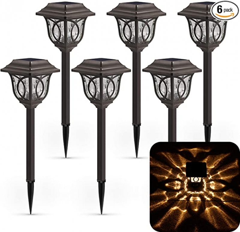 ihocon: Xmcosy Solar Torch Pathway Light, 6 Pack 太陽能庭園燈
