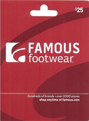 ihocon: $25 Famous Footwear Gift Card 只賣$20