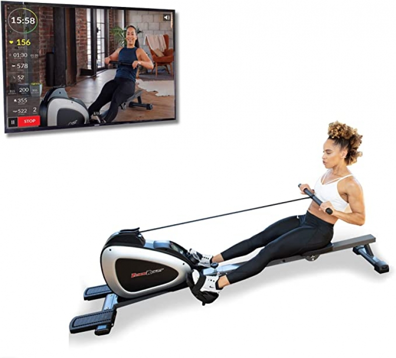 ihocon: FITNESS REALITY 1000 PLUS Bluetooth Magnetic Rowing Rower with Extended Optional Full Body Exercises and MyCloudFitness App 磁性划船器, 附運動App