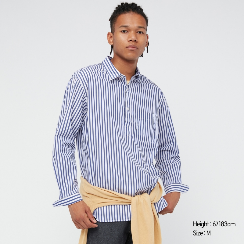 ihocon: UNIQLO MEN EXTRA FINE COTTON BROADCLOTH LONG-SLEEVE SHIRT 男士純棉長袖襯衫