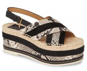 ihocon: TORY BURCH Platform Singback Espadrille Sandal厚底涼鞋