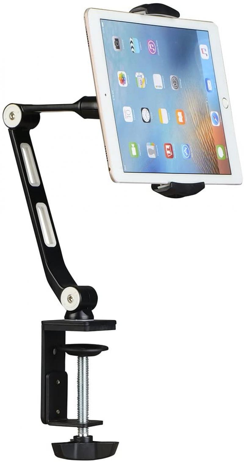 ihocon: Suptek Aluminum Tablet Desk Mount Stand 360° Flexible Cell Phone Holder 手機/平板電腦固定架