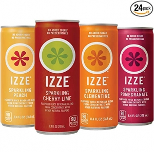 ihocon: IZZE Sparkling Juice, 4 Flavor Sparkling Sunset Variety Pack, 8.4 Ounce, 24 Count 氣泡果汁