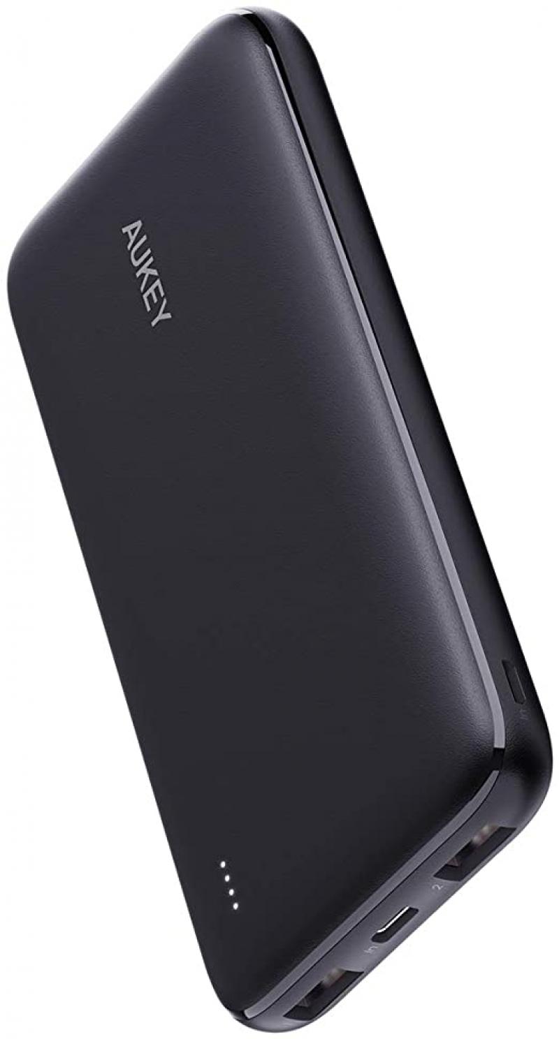 ihocon: Aukey PB-N73 10000mAh USB-C Portable Power Bank with Dual Charging Ports 行動電源