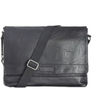 ihocon: Kenneth Cole Reaction Men's Pebbled Messenger Bag  男士鵝斜背包