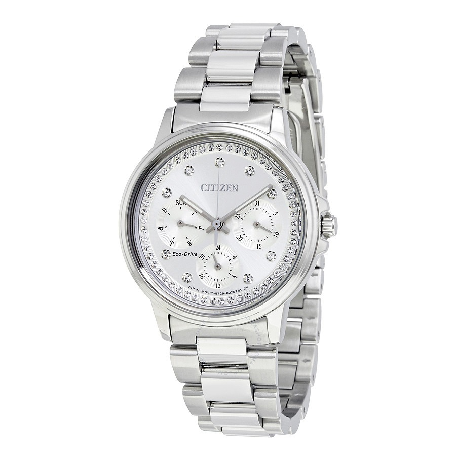 ihocon: Citizen Silhouette Swarovski crystal Eco-Drive Ladies Watch 水晶光動能女錶