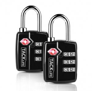 ihocon: Tacklife HCL3A 2.4 TSA 3-Digit Padlock Combination Locks, 2 Packs 行李鎖