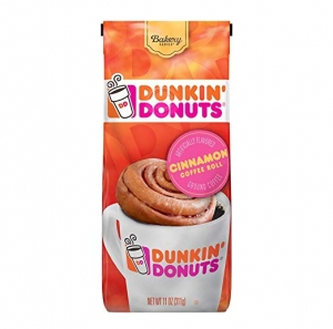 ihocon: Dunkin' Donuts Bakery Series Cinnamon Roll Flavored Ground Coffee, 11 Ounces 研磨咖啡