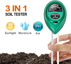 ihocon: [2020 Upgraded] Lotustech 3 in 1 Soil Test Kit 土壤濕度/光線/酸鹼度測試儀