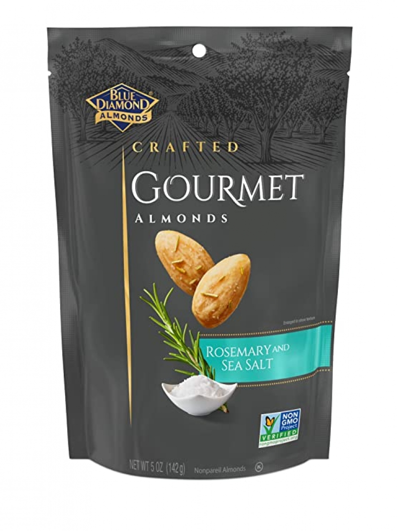 ihocon: Blue Diamond Almonds, Gourmet Rosemary and Sea Salt, 5 Ounce 杏仁