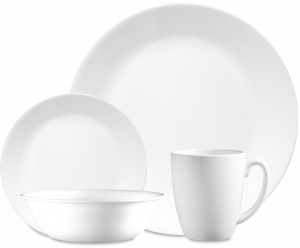ihocon: Corelle Classic Winter Frost White 16-Piece Dinnerware Set 餐盤組