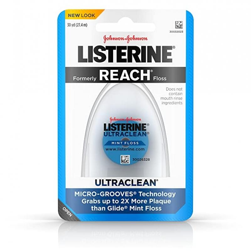 ihocon: Listerine Ultraclean Waxed Dental Floss, 30 yds 牙線
