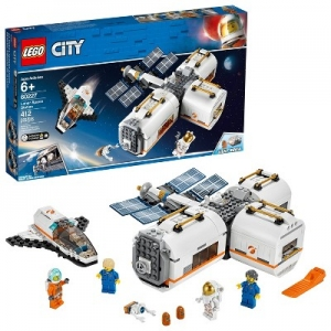 ihocon: 樂高城市LEGO City Space Lunar Space Station Space Station Building Set with Toy Shuttle(412 Pieces)月球太空站及太空梭