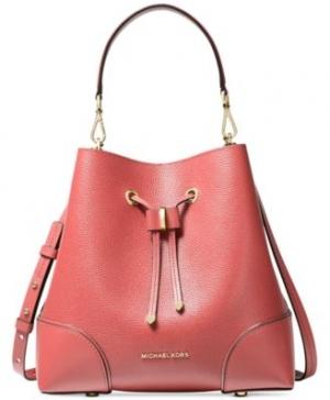 ihocon: MICHAEL Michael Kors Mercer Gallery Convertible Bucket Leather Shoulder Bag     真皮水桶包
