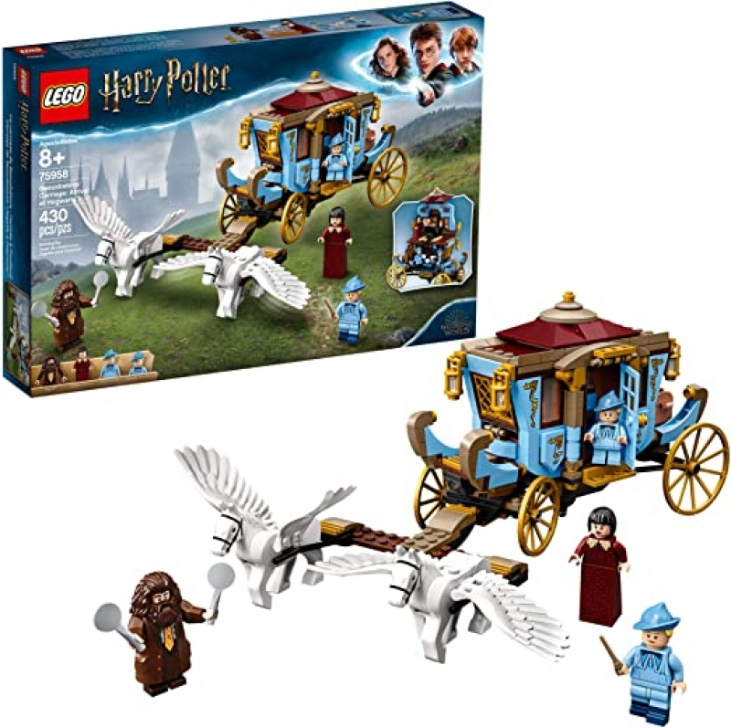 ihocon: LEGO Harry Potter and The Goblet of Fire Beauxbatons' Carriage: Arrival at Hogwarts 75958 Building Kit (430 Pieces) 樂高哈利·波特與火焰杯高加索人的馬車
