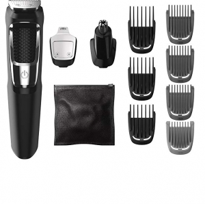 ihocon: Philips Norelco MG3750 Multigroom All-In-One Series 3000, 13 attachment trimmer 飛利浦電動理髮/修容器