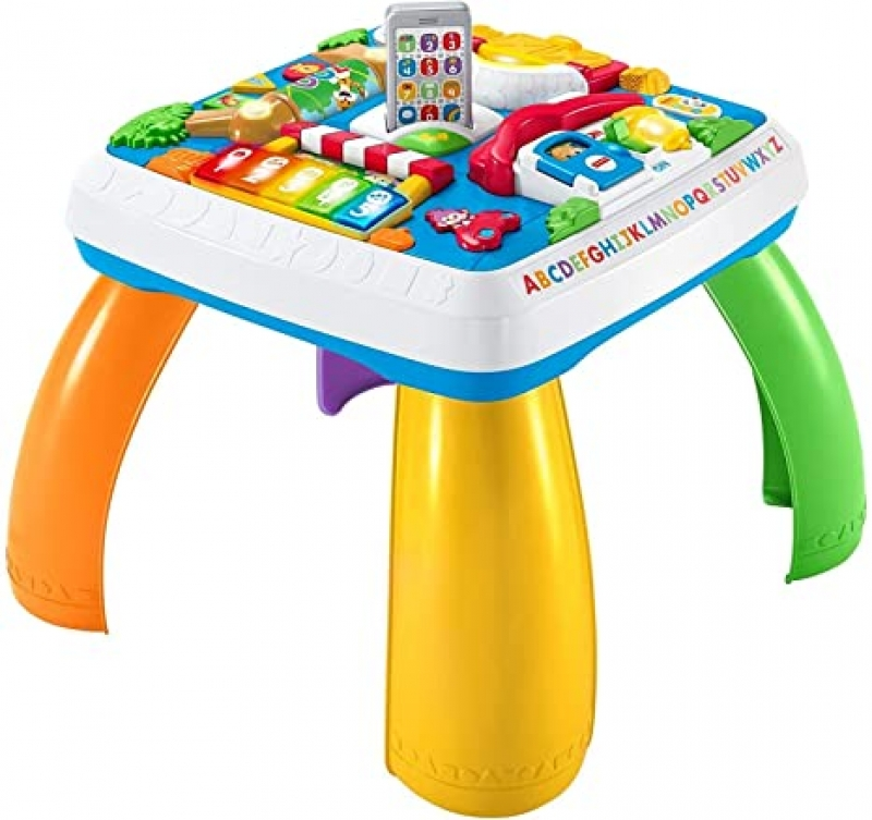 ihocon: Fisher-Price Laugh & Learn Around The Town Learning Table 兒童遊戲學習桌