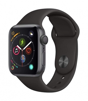 ihocon: AppleWatch Series4 (GPS, 40mm) - Space Gray Aluminium Case with Black Sport Band